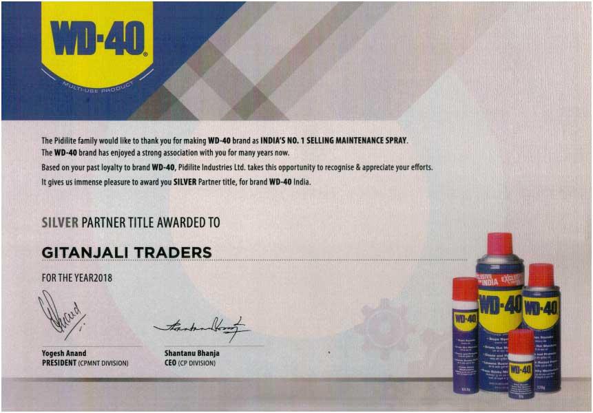Certificate -WD-40